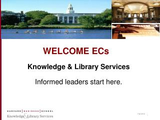 WELCOME ECs