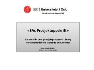 «EAs Prosjektoppskrift»