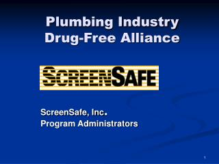 Plumbing Industry  Drug-Free Alliance