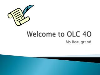 Welcome to OLC 4O