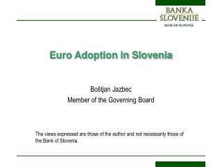 Euro Adoption in Slovenia