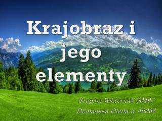 Krajobraz i jego elementy