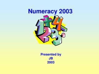 Numeracy 2003