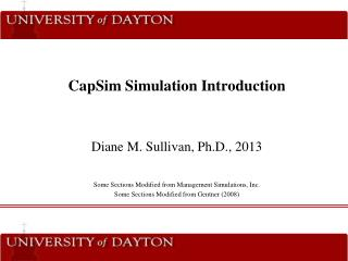 CapSim Simulation Introduction