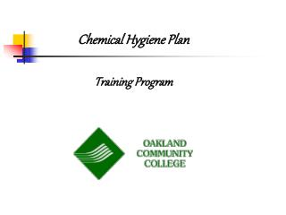 Chemical Hygiene Plan  Training Program