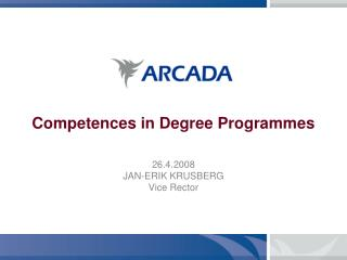 Competences in Degree Programmes
