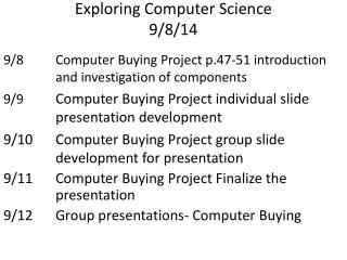 Exploring Computer Science 9/8/14