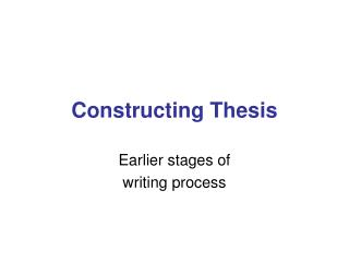 Constructing Thesis