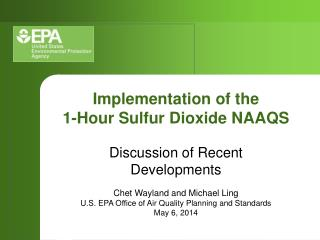 Implementation of the 1-Hour Sulfur Dioxide NAAQS