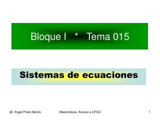Bloque I   *   Tema 015