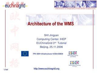 Architecture of the WMS