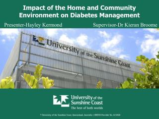 Impact of the Home and Community Environment on Diabetes Management