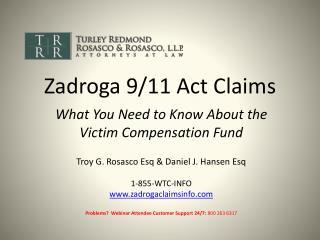 Zadroga 9/11 Act Claims