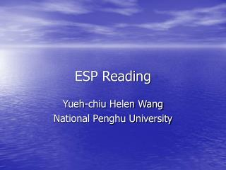 ESP Reading