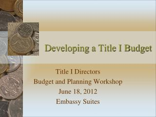 Developing a Title I Budget