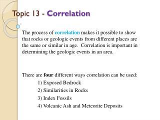 Topic 13 -  Correlation