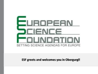 ESF greets and welcomes you in  Obergurgl !