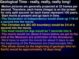 Geological Time - really, really, really long!