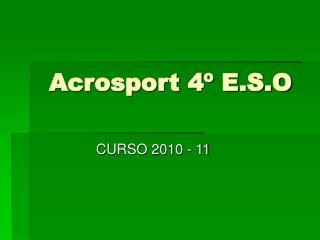 Acrosport 4º E.S.O