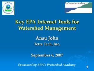 Key EPA Internet Tools for Watershed Management