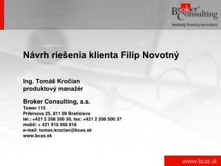 Návrh riešenia klienta Filip Novotný