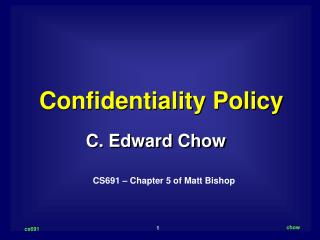 Confidentiality Policy