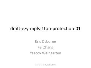 draft-ezy-mpls-1ton-protection-01