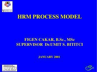 HRM PROCESS MODEL     FIGEN CAKAR, B.Sc., MSc SUPERVISOR  Dr.UMIT S. BITITCI