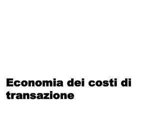 Economia dei costi di transazione