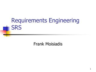 Requirements Engineering SRS