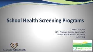 School Health  Screening Programs