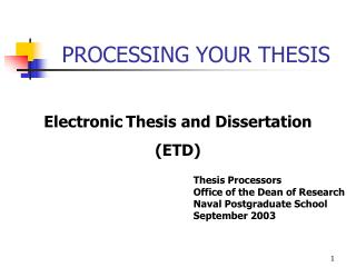 PROCESSING YOUR THESIS