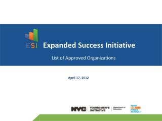 Expanded Success Initiative List of Approved Organizations