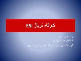 کارگاه تریاژ  ESI