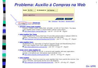 Problema: Auxílio á Compras na Web