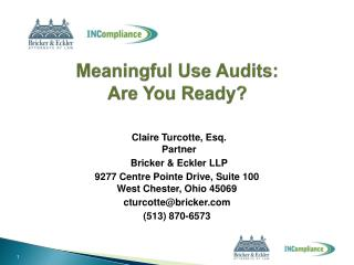 Meaningful Use Audits: Are You Ready?