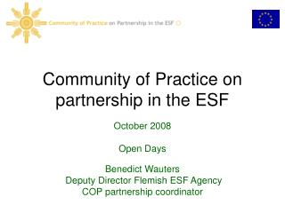 Community of Practice on partnership in the ESF