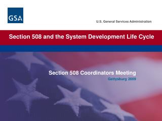 Section 508 and the System Development Life Cycle