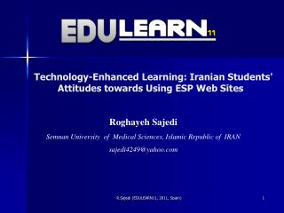Technology-Enhanced Learning: Iranian Students' Attitudes towards Using ESP Web Sites