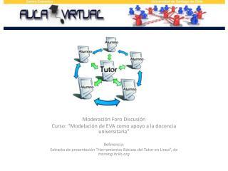 """Moderación Foro Discusión Curso: """"Modelación de EVA como apoyo a la docencia universitaria"""""""
