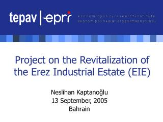 Project on the Revitalization of the Erez Industrial Estate (EIE)