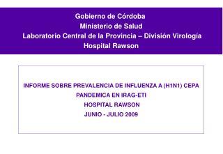 Gobierno de Córdoba   Ministerio de Salud