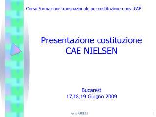 Presentazione costituzione  CAE NIELSEN Bucarest  17,18,19 Giugno 2009