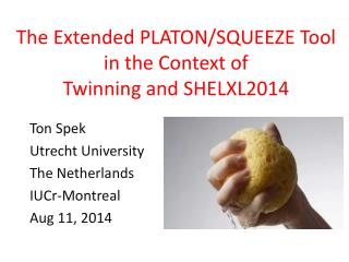 The Extended PLATON/SQUEEZE Tool in the Context of  Twinning and SHELXL2014