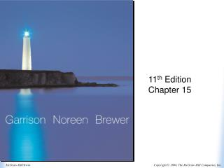 11 th  Edition Chapter 15