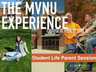 Student Life Parent Session