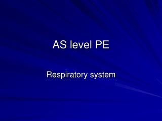 AS level PE