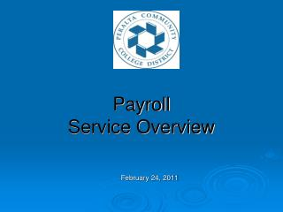 Payroll  Service Overview