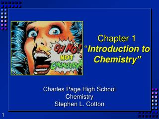 Chapter 1 � Introduction to Chemistry�