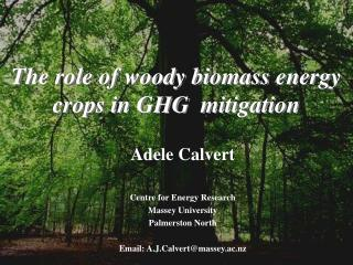 The role of woody biomass energy crops in GHG  mitigation